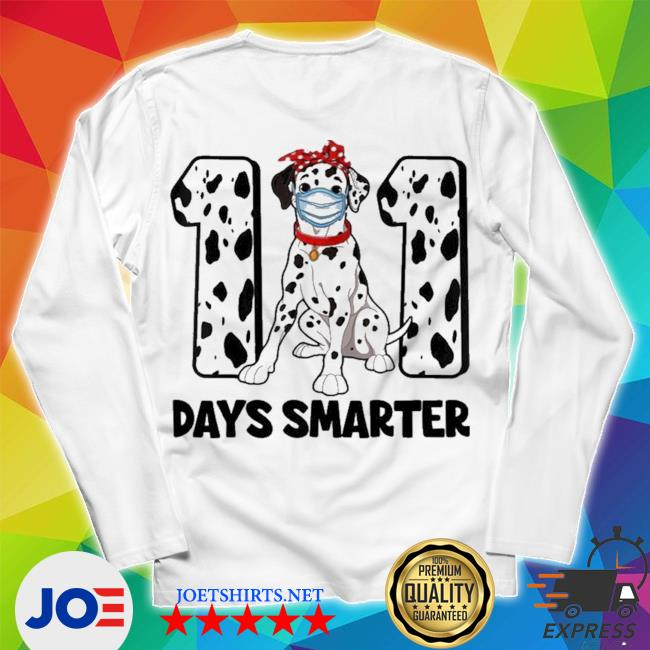 101 days smarter dalmatian dog 100th day new 2021 s Unisex Long Sleeve Tee