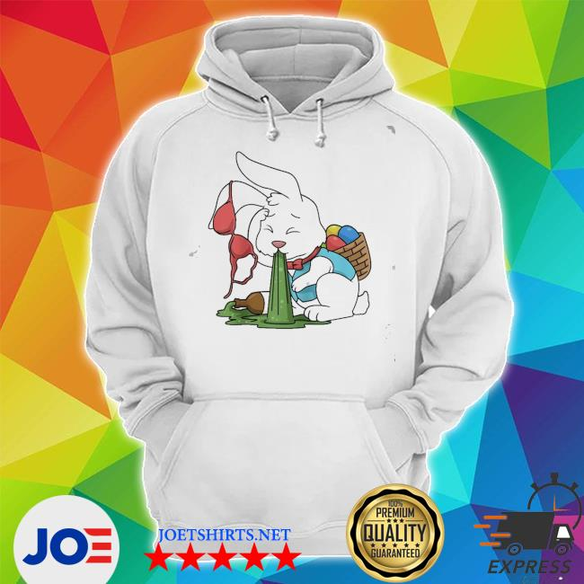 Funny easter happy easter bunny drinking easter new 2021 s Unisex Hoodie
