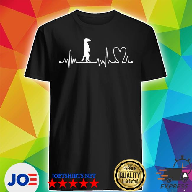 Heartbeat heart beat frequency ecg meerkat new 2021 s Shirt