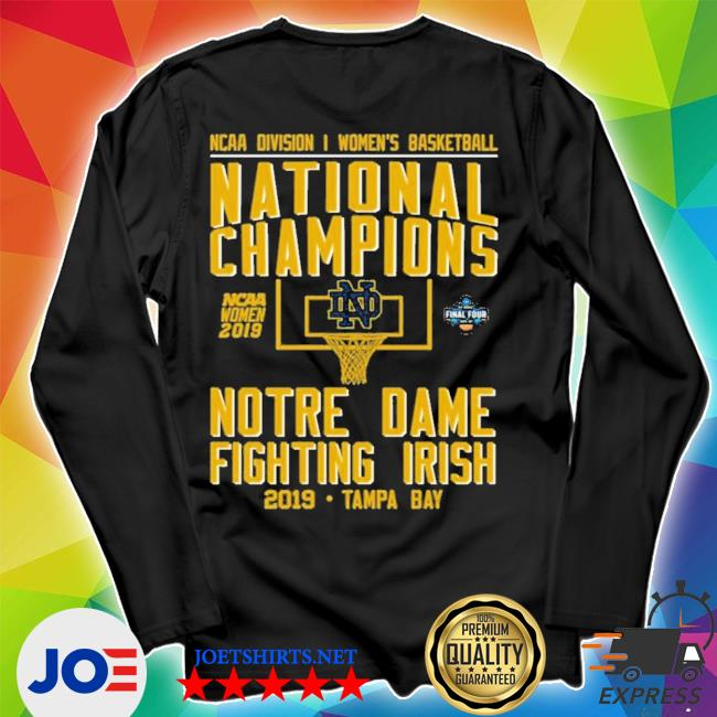 Ncaa women's basketball national 2019 champions notre dame tampa bay new 2021 s Unisex Long Sleeve Tee