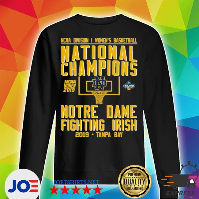 Ncaa women's basketball national 2019 champions notre dame tampa bay new 2021 s Unisex Sweater