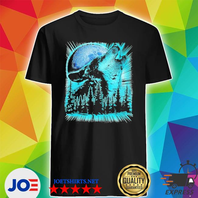 Psychedelic wolf howling at the moon for wolfs new 2021 s Shirt