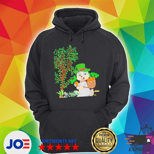 Womens bunny leprechaun hat bunny st. patrick's day new 2021 shirt