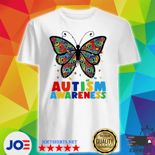 Autism awareness butterfly accept understand puzzle pieces shirt