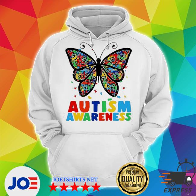 Autism awareness butterfly accept understand puzzle pieces s Unisex Hoodie