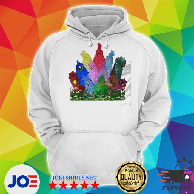 Chicken rooster colorful rainbow s Unisex Hoodie