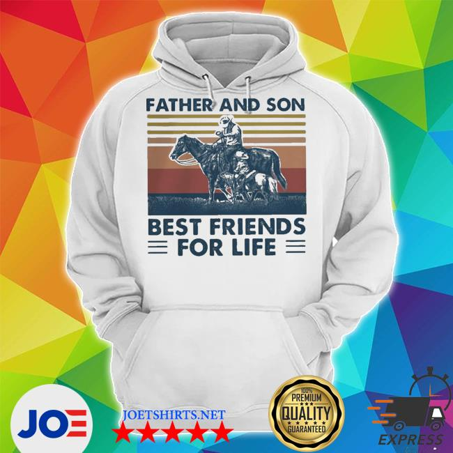 Horse father and son best friends for life vintage retro s Unisex Hoodie