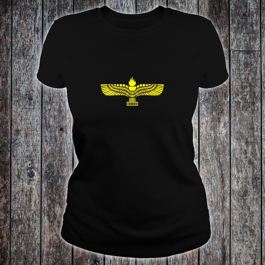 Aramaic Flag Aramaeans Christian Suryoyo Shirt ladies tee