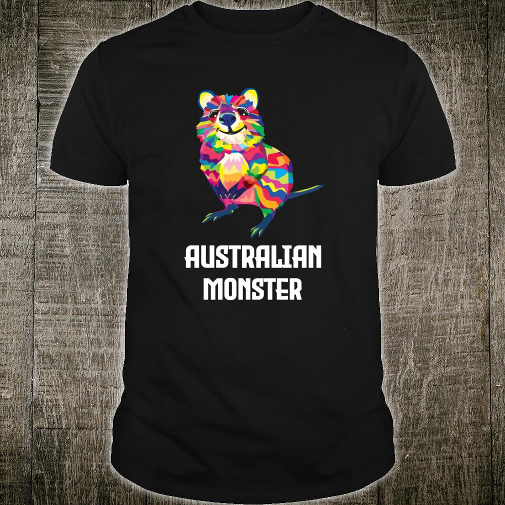 Australian Monster Quokka Marsupial Geometric Happy Animal Shirt