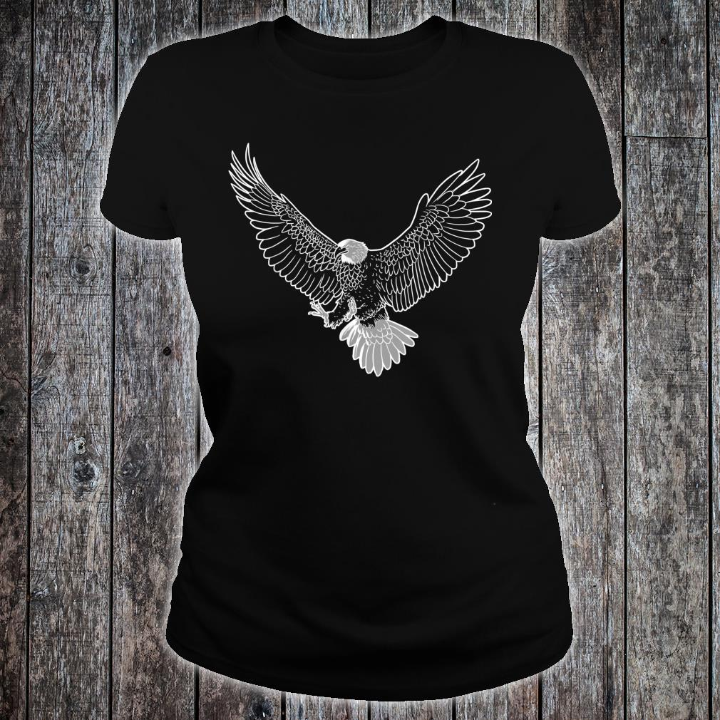 Awesome American bald eagle Shirt ladies tee