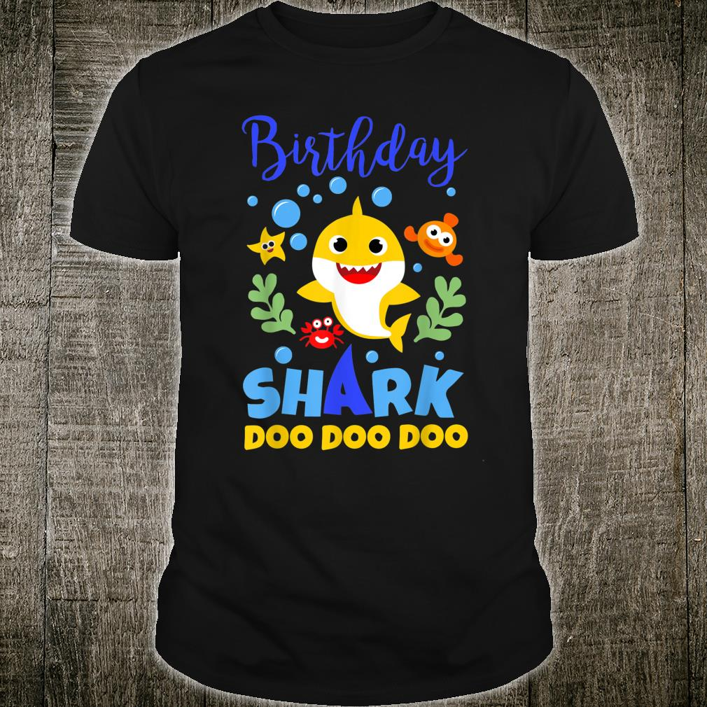 Birthday Shark Baby for Party Yellow Outfit Doo Doo Shirt
