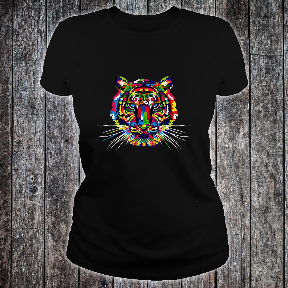 Colorful Tiger Shirt ladies tee