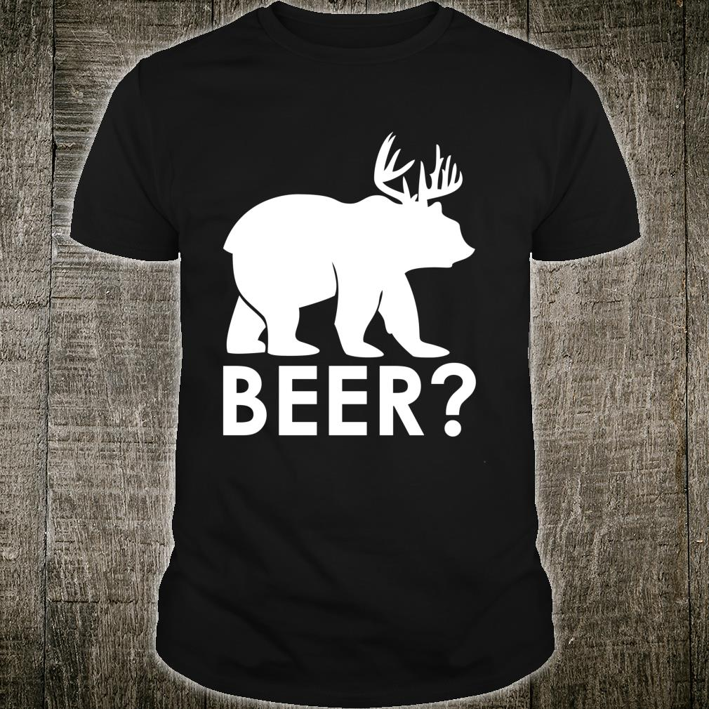 Funny Beer Bear Deer Hunting Hiker Hunter Camping Shirt
