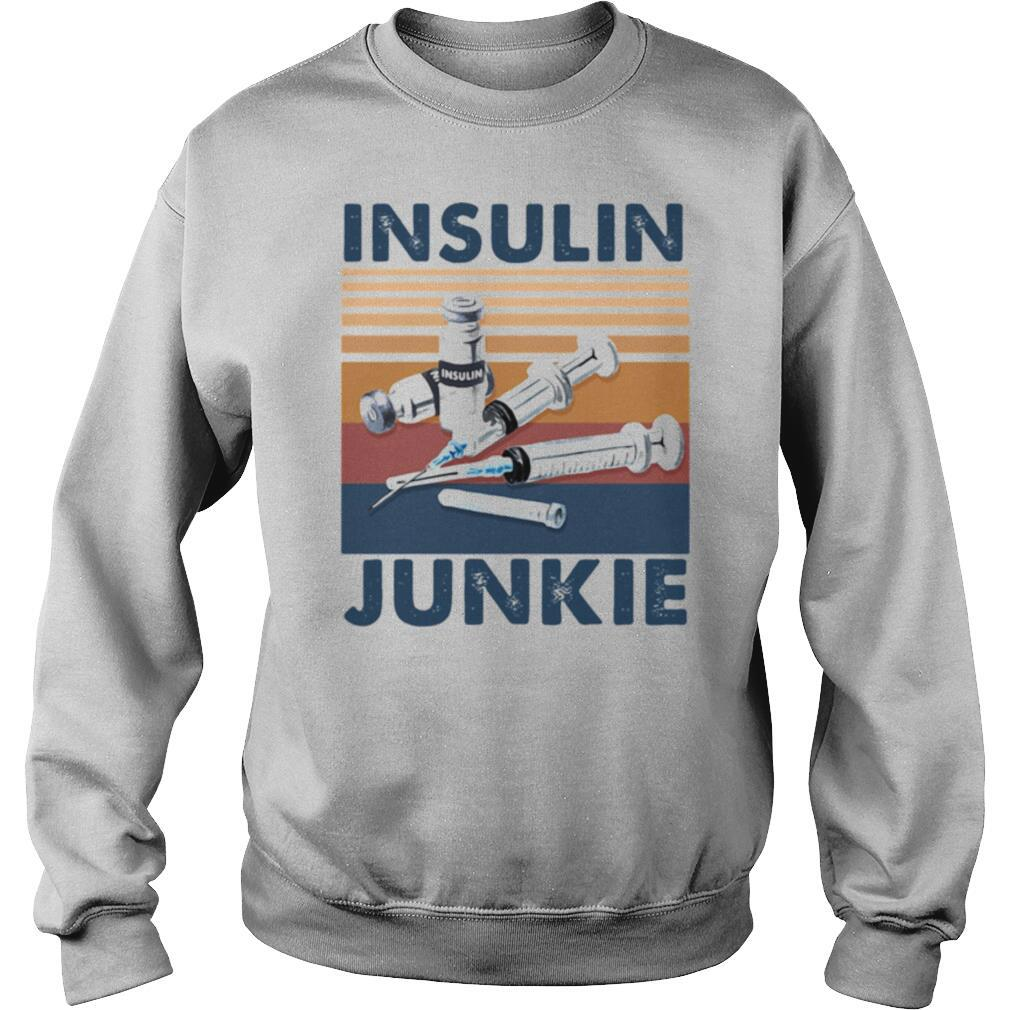 Insulin Junkie Vintage Retro shirt