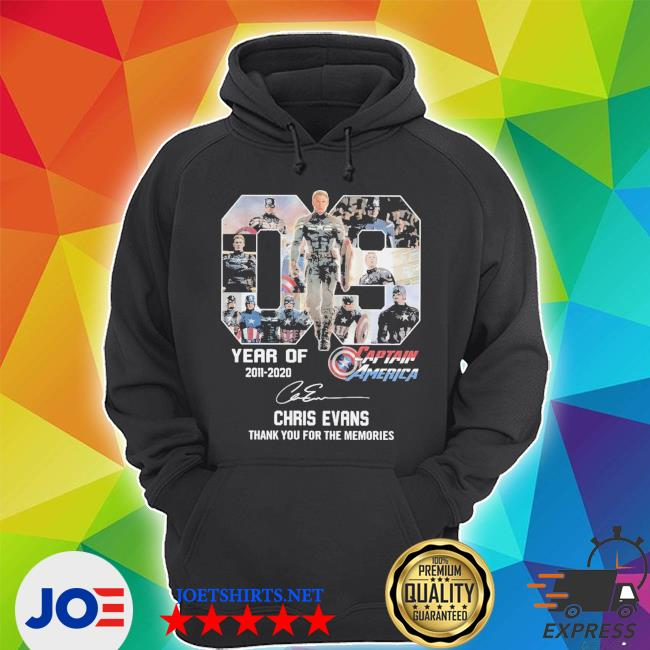 9 year of 2011 2010 captain america thank you for the memories signature s Unisex Hoodie
