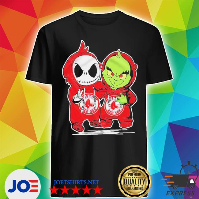 Baby skeleton and baby grinch boston red sox shirt