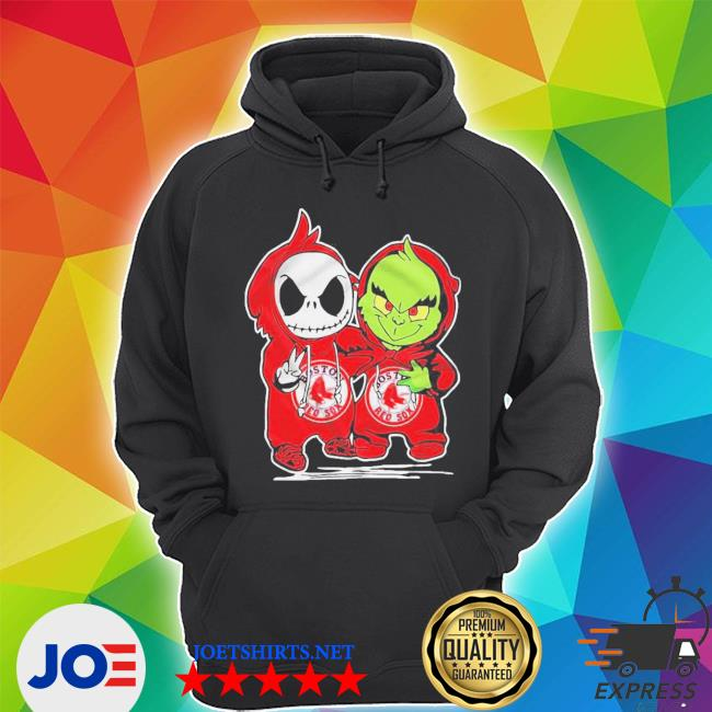 Baby skeleton and baby grinch boston red sox s Unisex Hoodie