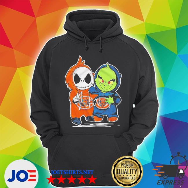 Baby skeleton and baby grinch chicago bears s Unisex Hoodie