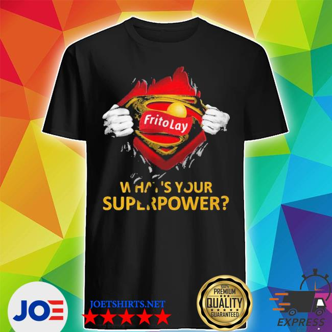 Blood insides superman frito lay what_s your superpower shirt