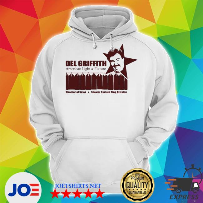 Del griffith american light and fixture director of sales shower curtain ring division s Unisex Hoodie