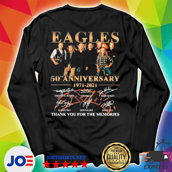 Eagles 50th anniversary 1971 2020 thank you for the memories signatures s Unisex Long Sleeve Tee