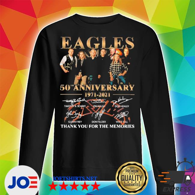 Eagles 50th anniversary 1971 2020 thank you for the memories signatures s Unisex Sweater