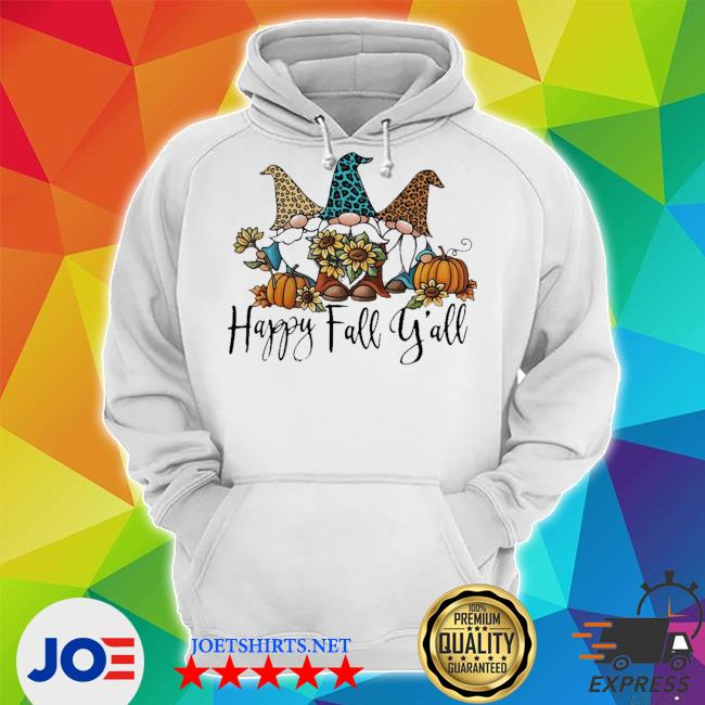 Gnomes happy fall y'all s Unisex Hoodie