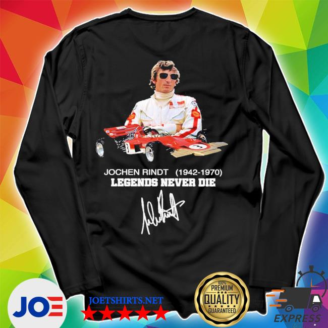 Jochen rindt 1942 1970 legends never die signature s Unisex Long Sleeve Tee