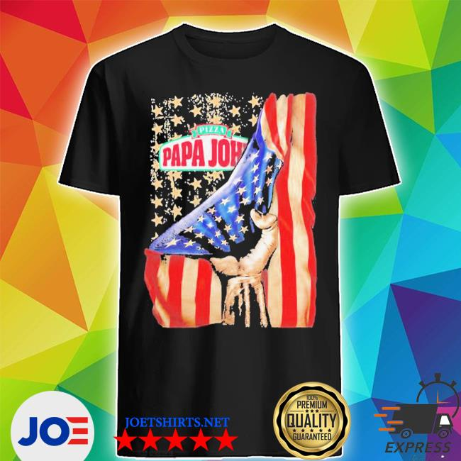 Pizza papa john american flag independence shirt