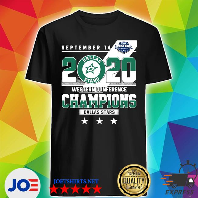September 14 2020 Western conference Champions Dallas Stars shirt