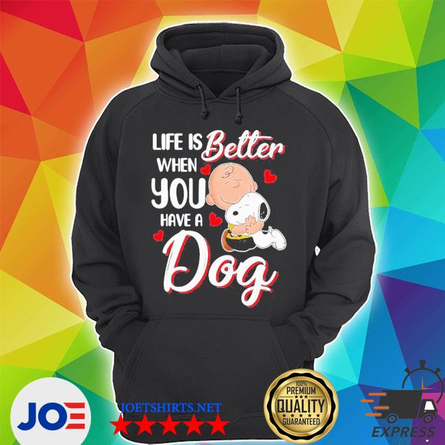 Snoopy and charlie brown life is better when you have a dog hearts s Unisex Hoodie