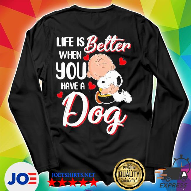Snoopy and charlie brown life is better when you have a dog hearts s Unisex Long Sleeve Tee