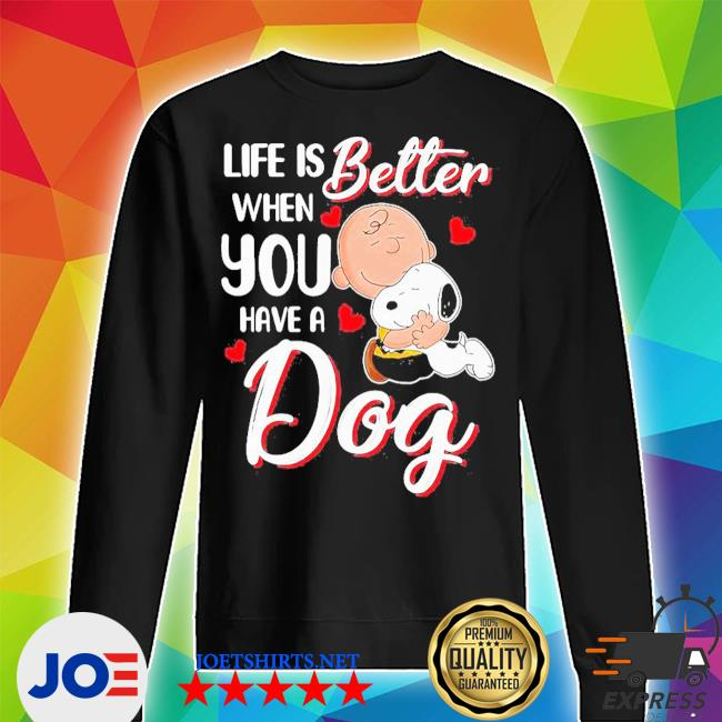 Snoopy and charlie brown life is better when you have a dog hearts s Unisex Sweater