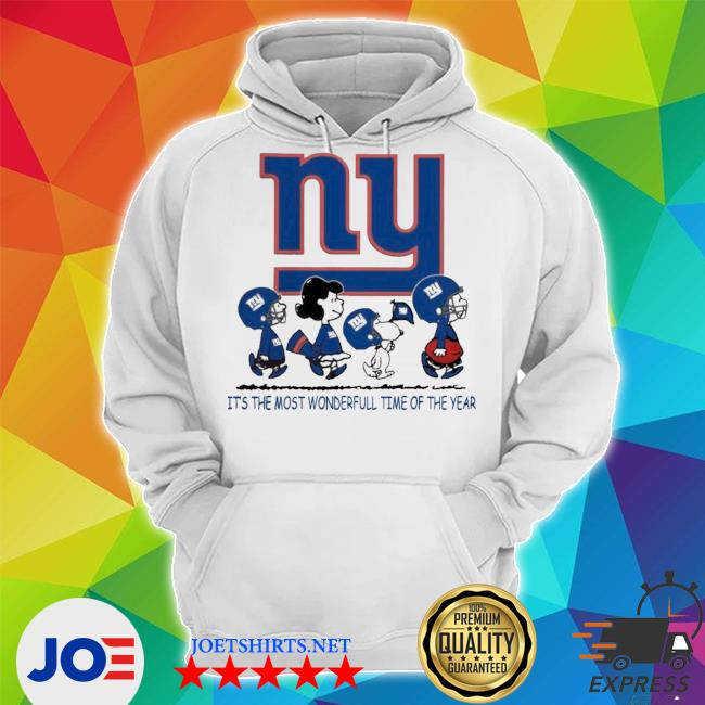Snoopy and friends new york giants it's the most wonderful time of the year s Unisex Hoodie