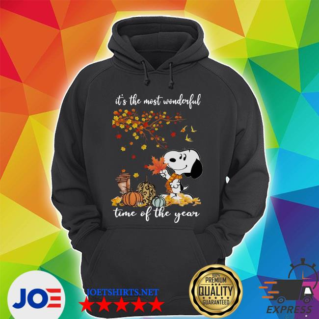 Snoopy It_s the most Wonderful time of the year Fall s Unisex Hoodie