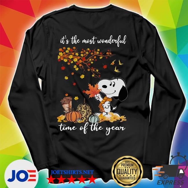 Snoopy It_s the most Wonderful time of the year Fall s Unisex Long Sleeve Tee