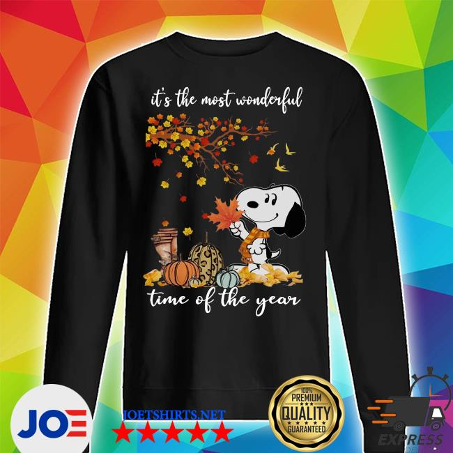 Snoopy It_s the most Wonderful time of the year Fall s Unisex Sweater