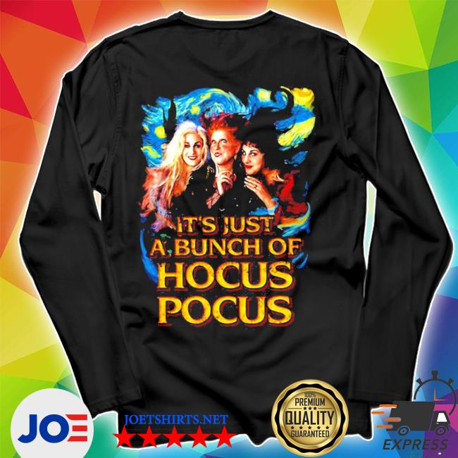 Starry night it's just a bunch of hocus pocus s Unisex Long Sleeve Tee