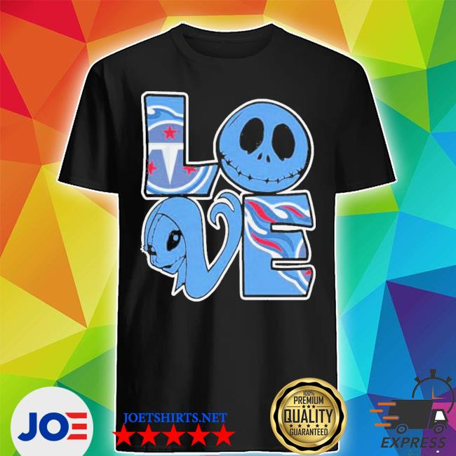 Tennessee Titans Jack Skellington And Sally Love Shirt