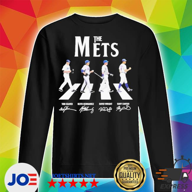 The new york mets baseball abbey road signatures s Unisex Sweater
