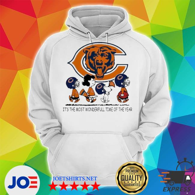 The peanuts characters chicago bear it's the most wonderful time of the year s Unisex Hoodie