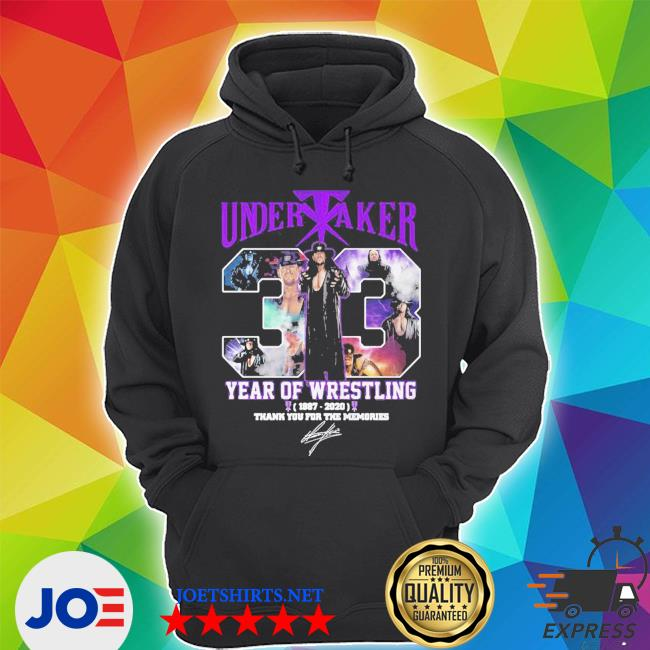 Undertaker 33 years of operation 1987 2020 thank you for the memories signature s Unisex Hoodie