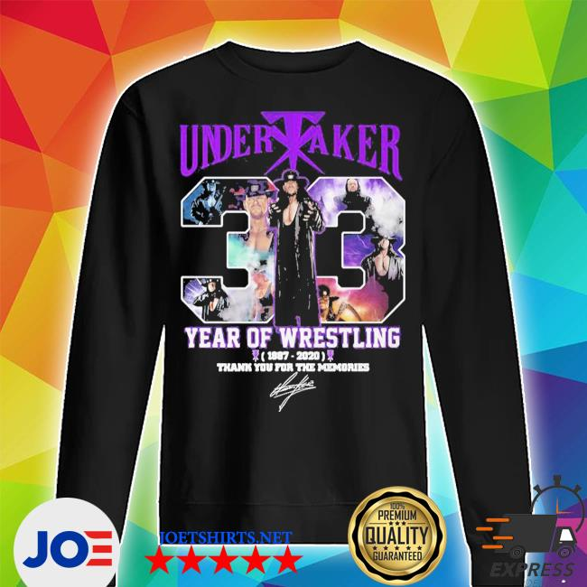 Undertaker 33 years of operation 1987 2020 thank you for the memories signature s Unisex Sweater