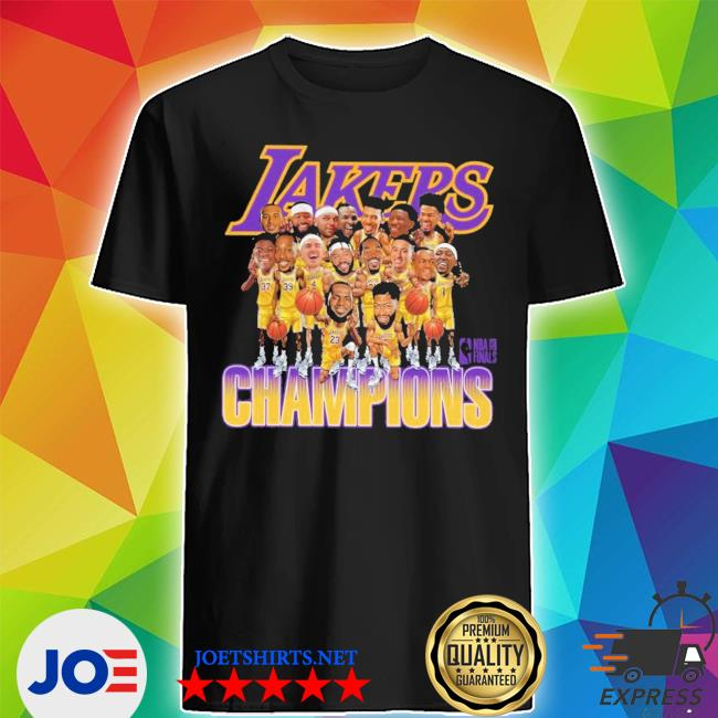 Lakers caricature 2020 championship shirt