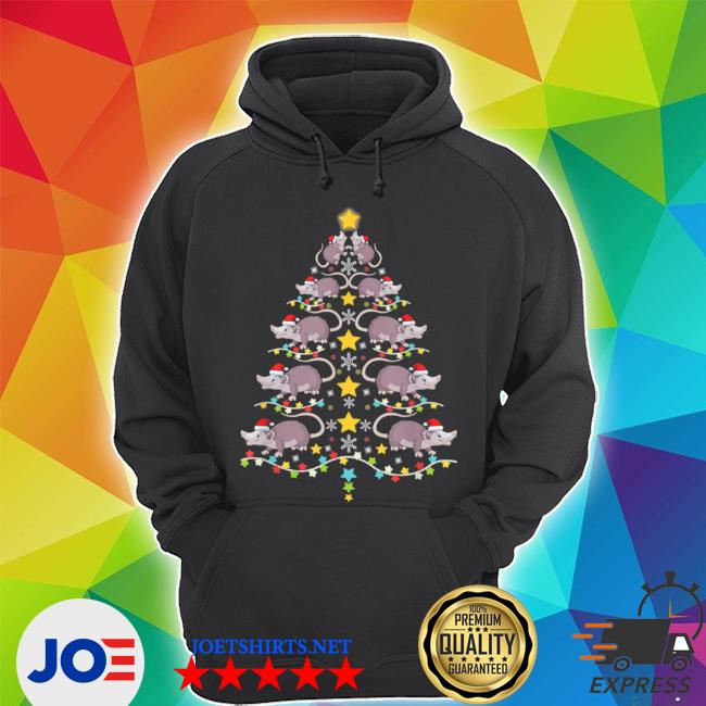 Official christmas opossums tree christmas tree lights s Unisex Hoodie