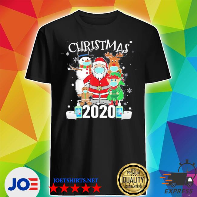 Official christmas santa claus and friends wearing mask 2020 shirt