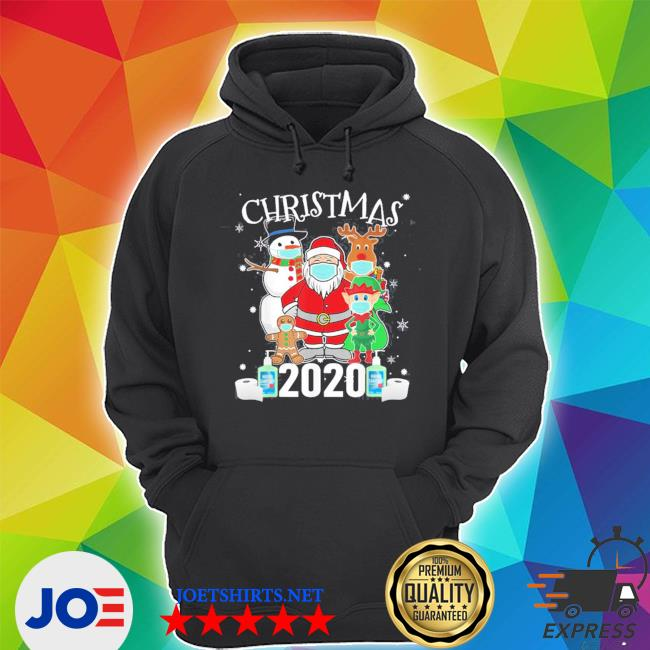 Official christmas santa claus and friends wearing mask 2020 s Unisex Hoodie