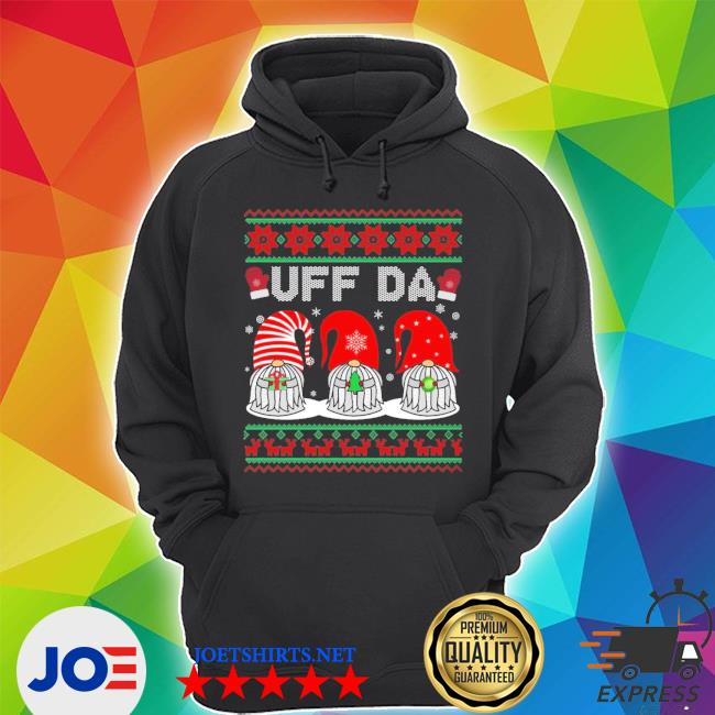 Official gnomes uff da christmas ugly s Unisex Hoodie