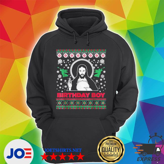 Official jesus birthday boy merry christmas ugly s Unisex Hoodie