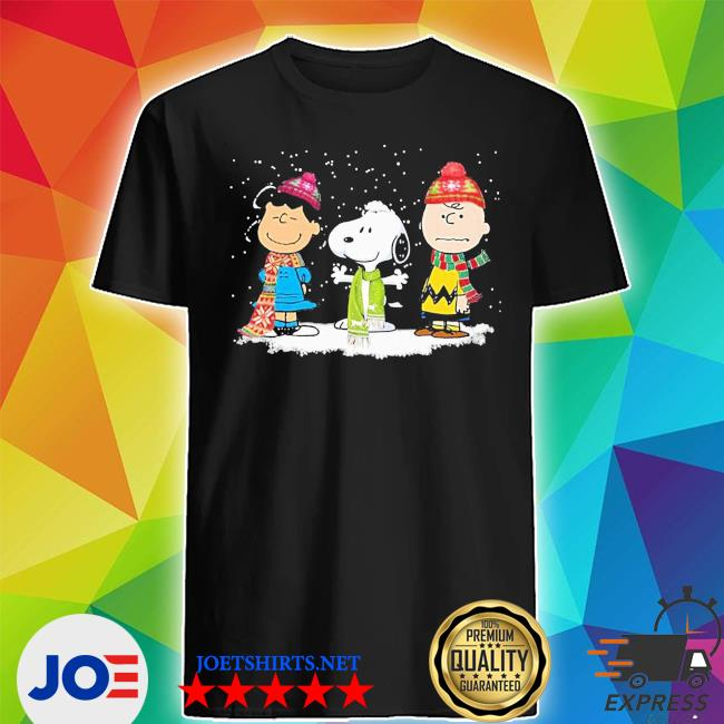 Official peanuts lucy van pelt charlie brown and snoopy christmas shirt